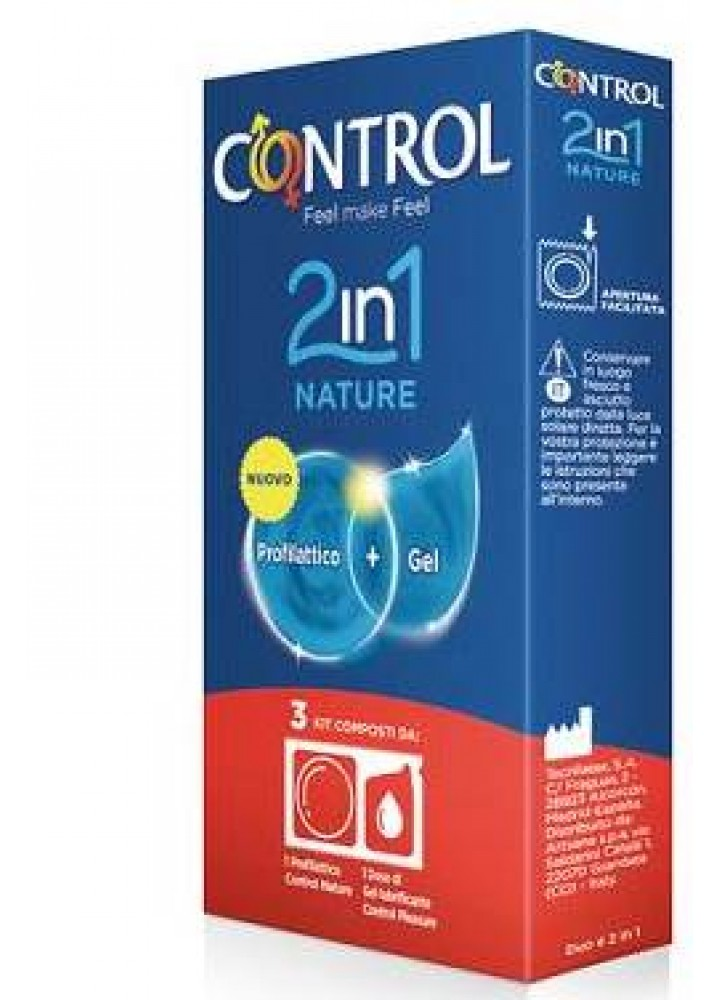 CONTROL 2IN1 NATURE+LUBE NATURE 3PZ