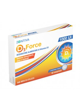 D3 FORCE ZENTIVA 1000UI 60CPR