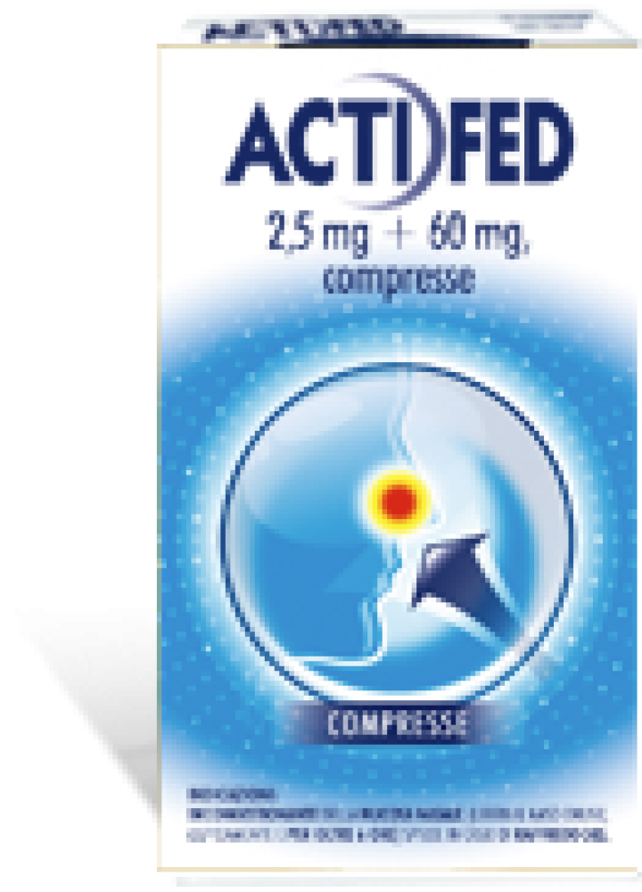 ACTIFED 2,5MG+60MG 12CPR